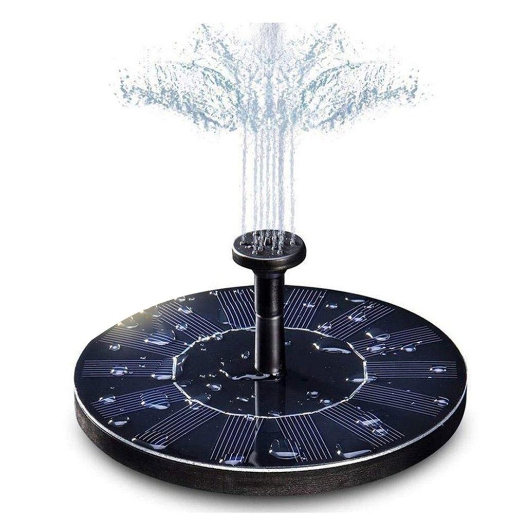 Juego de bomba de agua para jardín, decoración de jardín, Panel de Fuente de energía Solar flotante de agua, aspersor Solar para piscina, estanque