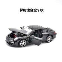 Juguetes de modelo de coche deportivo de Metal fundido a escala 124 para Porschedal 911 con volante, juguete de manejo del volante delantero para niños