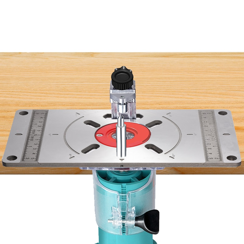 Aluminium Carpinte Router Table Insert Plate Multifunctional Woodworking Benches Machine Engraving Board Trimmer Machine Plate
