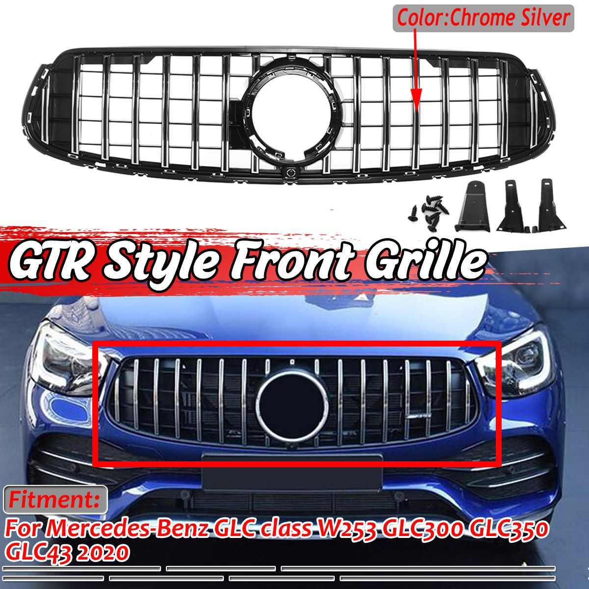 W253 GTR Style Grille Car Front Bumper Upper Grille Grill For Mercedes For Benz GLC Class W253 GLC300 GLC350 GLC43 2020