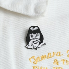 Classique film rôle émail broches personnalisé broche Punk Cool filles vêtements épinglette film noir blanc Badge gothique bijoux cadeaux