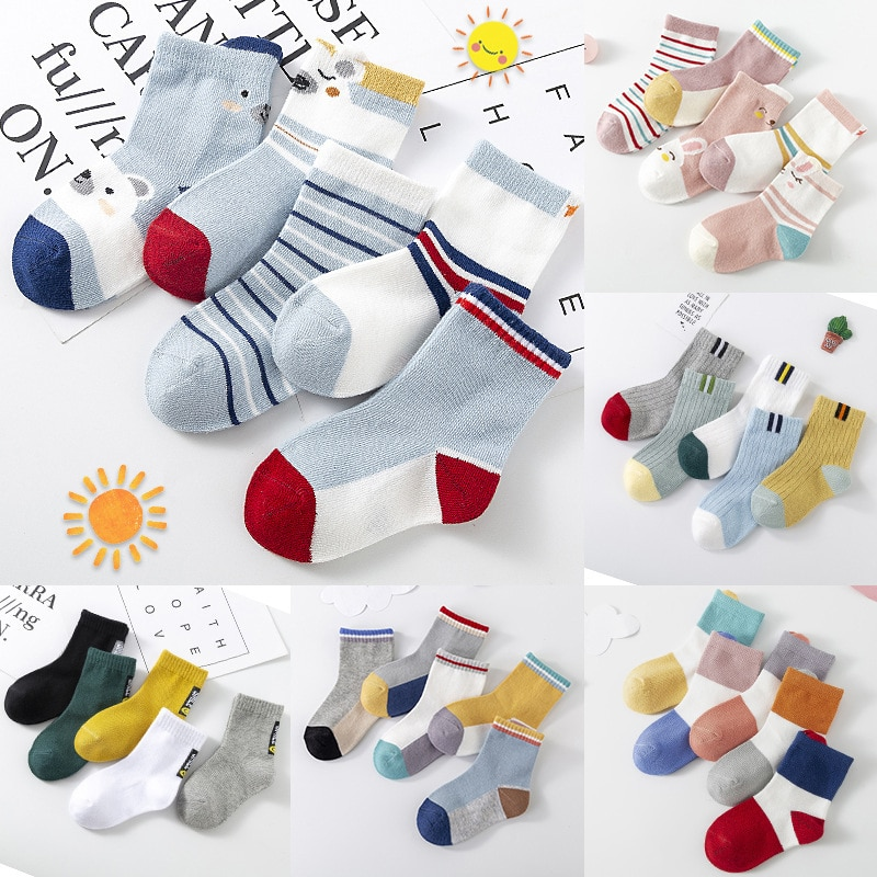 21 New Spring And Summer Class A Cartoon Animal Children Socks Cotton Tube Socks Boys And Girls Baby