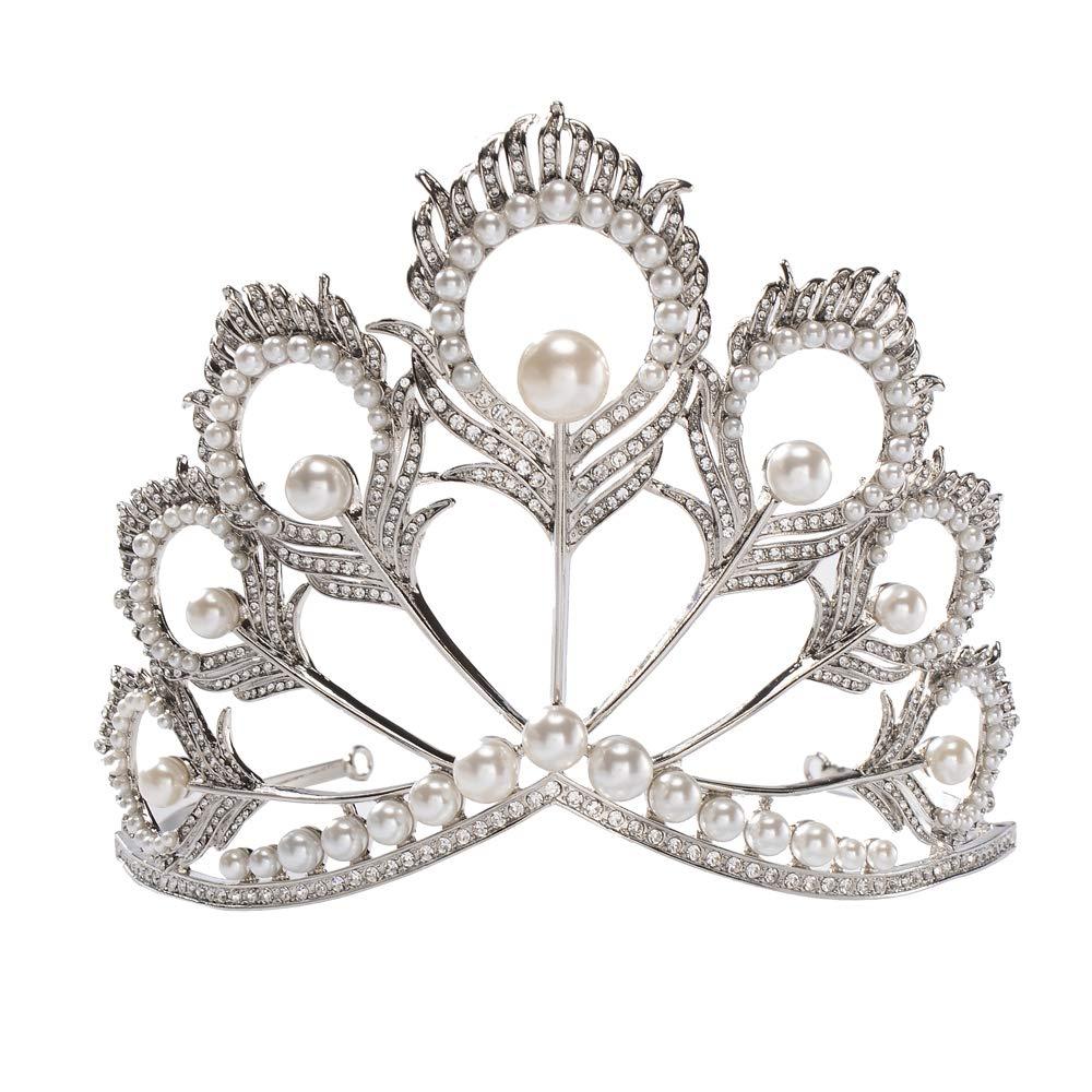 Miss univers couronne perle strass diadème reconstitution historique reine couronne mariage cheveux bijoux