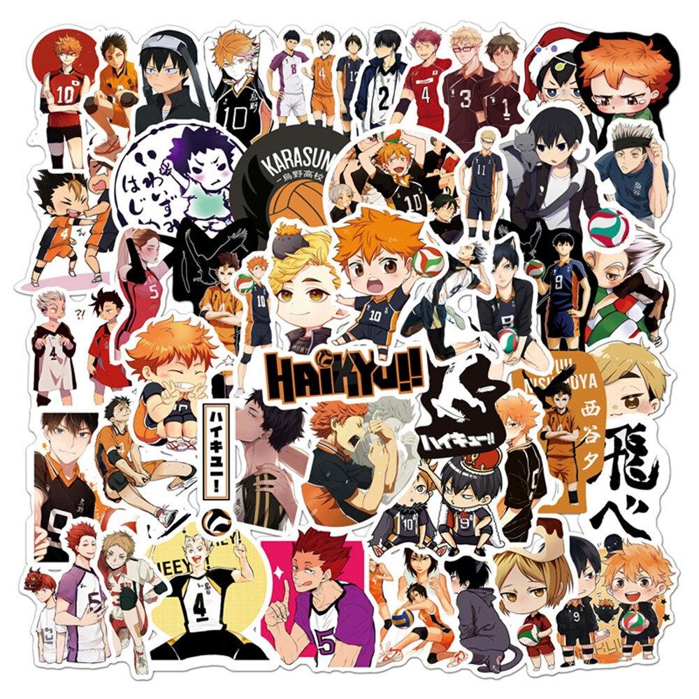 ¡10-50-unids-set-tee-pegatinas-japonesas-pegatina-de-anime-voleibol-para-maleta-para-guitarra-portatil-telefono-nevera-motocicleta