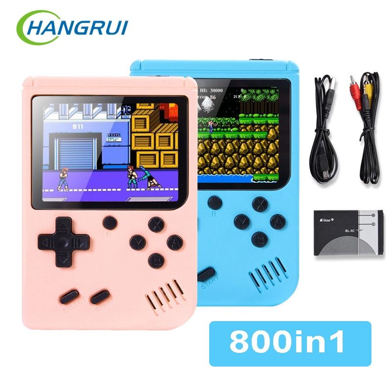 Consola de videojuegos Retro 800 en 1, portátil, LCD, para niños