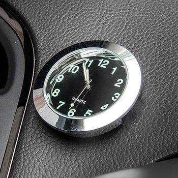 1pc Car Quartz Clock Car Decoration Watch Ornaments Vehicle Auto Interior Watch Digital Pointer Car Accessories