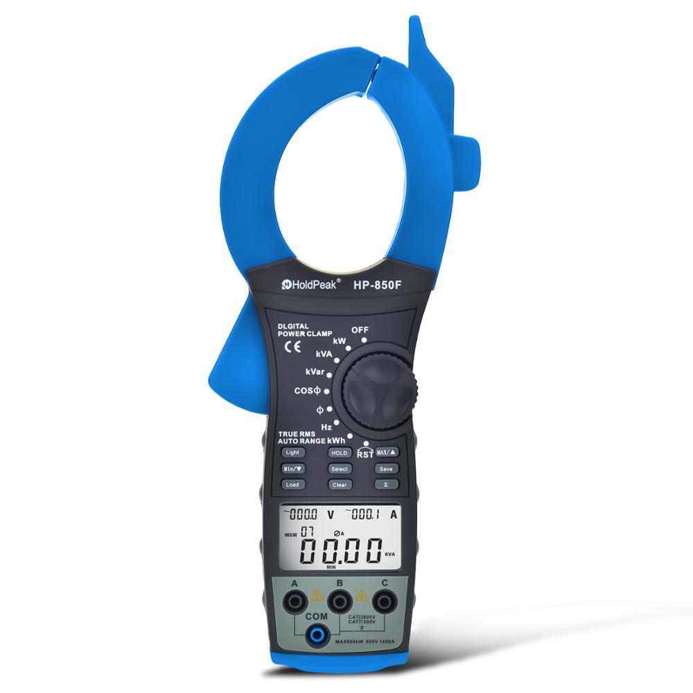 السلطة متر HP-850F الذكية الرقمية ثلاث مراحل السلطة المشبك الجدول واجهة البيانات USB المشبك نوع أداة قياس الطاقة