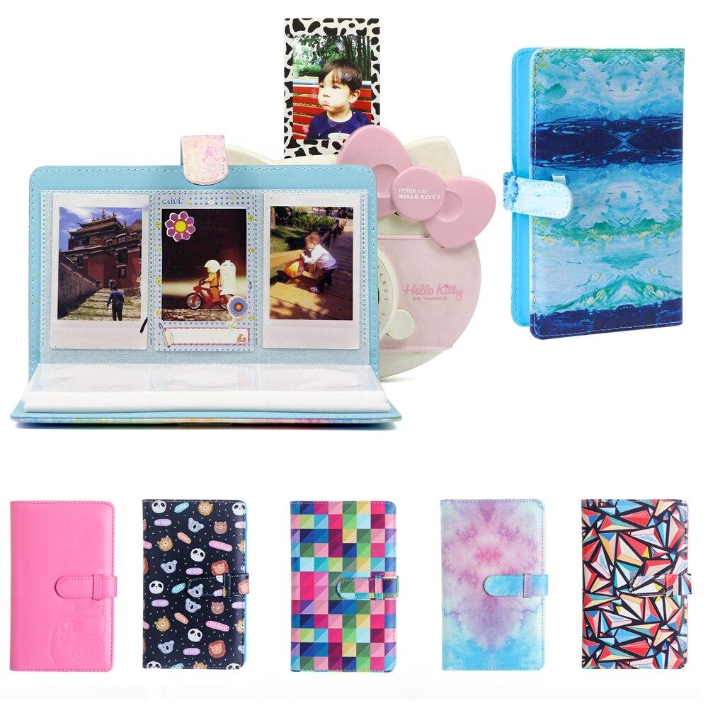 96 poches en cuir PU Album Photo instantané étui Photo Mini Film Album Photo pour Polaroid mini série 3 pouces photos porte-carte