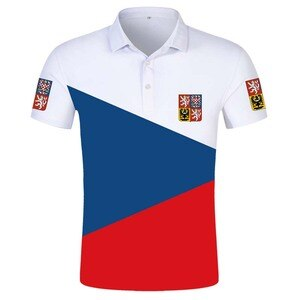 CZECH REPUBLIC POLO shirt diy free custom name number cze POLO shirt nation flag czechia country cz college print photo clothing