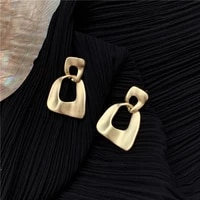 senior fashion temperament cold wind texture geometric stud earrings female personality wind restoring ancient ways earrings
