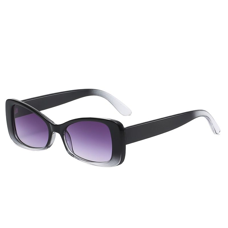 Fashion Cat Eye Women's Gradient Sunglasses Luxury Retro Rectangle Trendy Versatile Sun Glasses UV40