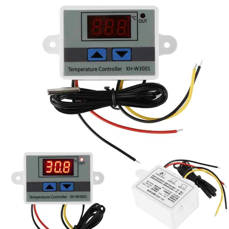 3pcs 220V Digital LED Temperature Controller 10A Thermostat Switch Probe Smart Temperature Control System Family Intelligence