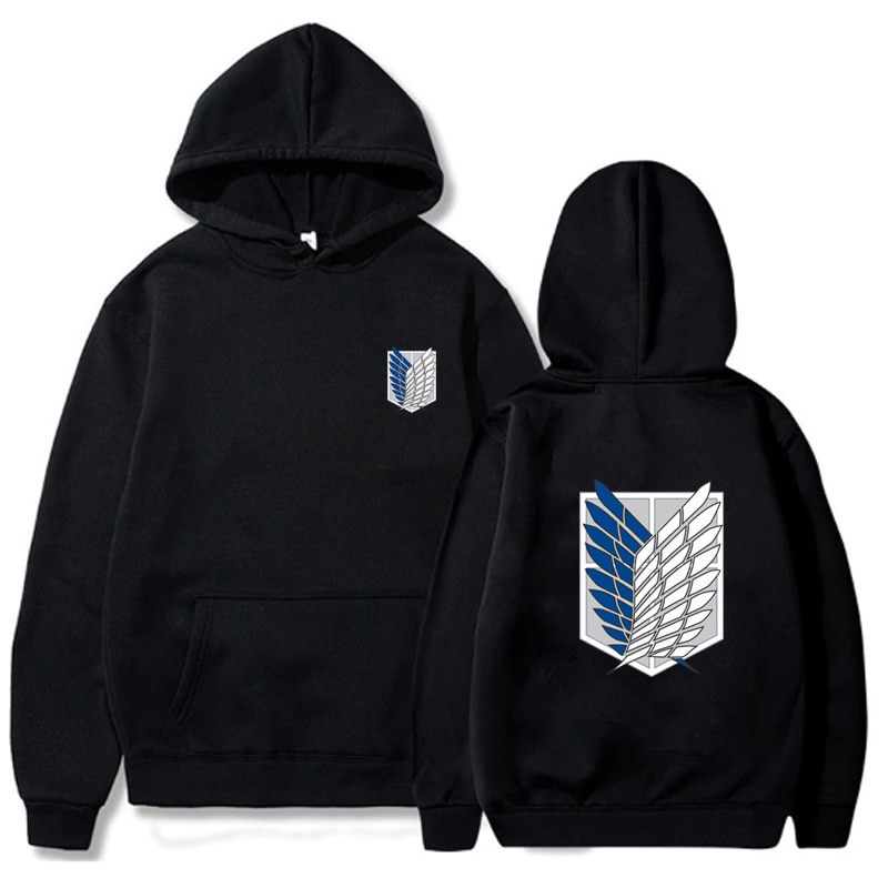 Ataque em titan hoodie masculino moda solta pullovers casaul topos oversize hoodie moletom com capuz