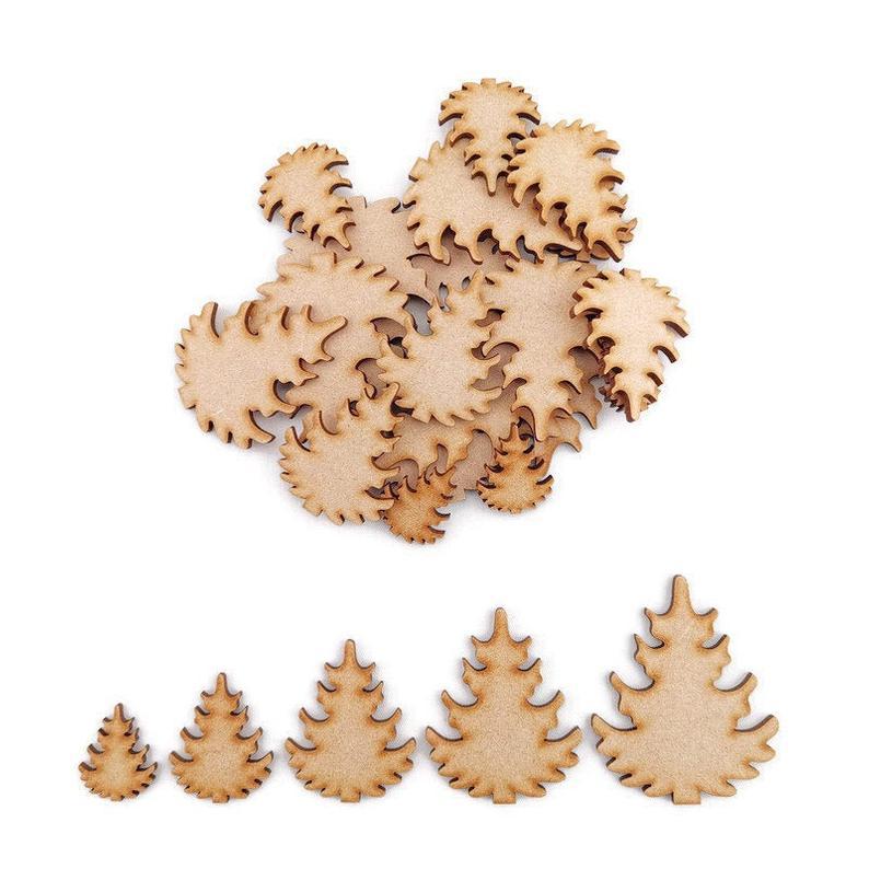 Gingerbread hombre MDF formas artesanales decoración de árbol de Navidad de madera embellecedor