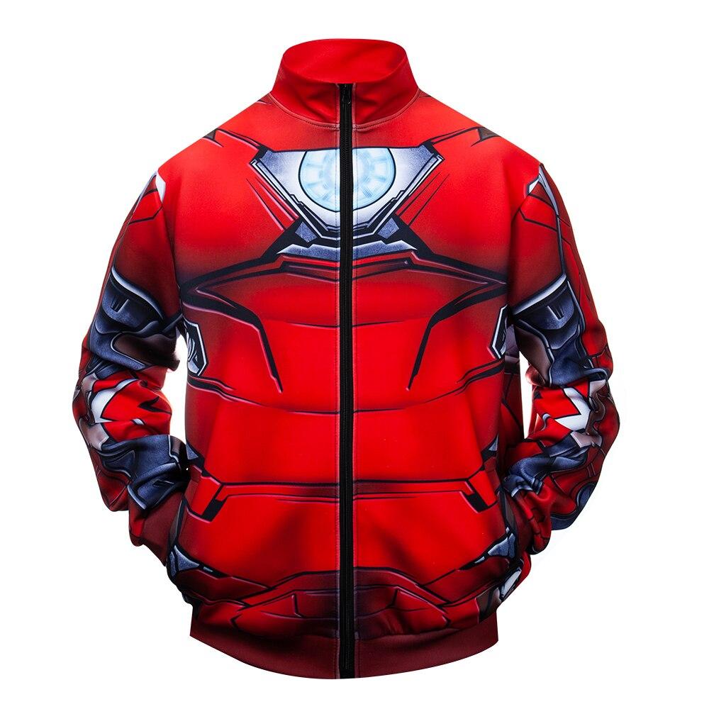 2020 New Marevl Superhero Iron Man Cosplay Anime 3D Printed Costume Zipper Jacket Coat Fashion Sweatshirts Tracksuit Fitness