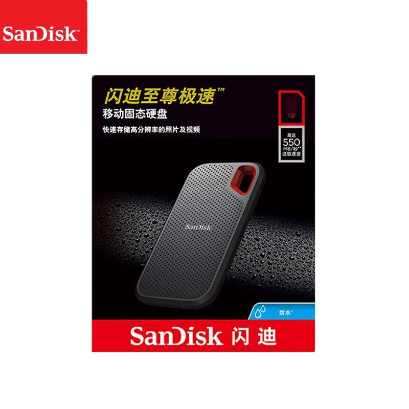 100% سانديسك Type-c محمول 1 تيرا بايت SSD 2 تيرا بايت 500 جيجابايت 550 متر قرص صلب خارجي USB 3.1 HD وسيط تخزين ذو حالة ثابتة/ القرص الصلب أقراص بحالة صلبة لأجه...