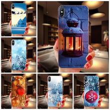 For Xiaomi Redmi mi10 lite Pro Note 9 PRO Max 9s Mi9 K30 K20 Pro 5G TPU Cell Cover Case Merry Christmas Snow Tree
