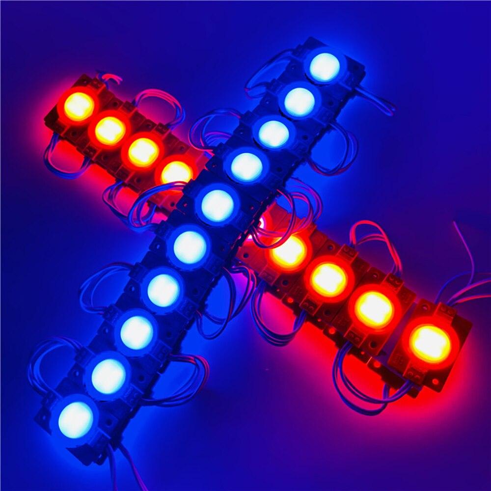 500pcs/lot DC12V 24V 2.4W Injection COB LED Module Light With Milky PC Lens For Advertising Sign Box Shop Banner Wholesale enlarge