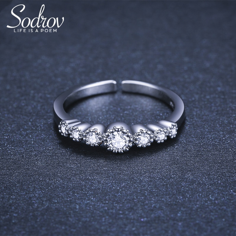 Class Silver 925 Ring Silver Rings For Women Free Size Open Ring Adjustable Finger Rings Silver 925 Jewelry Ring