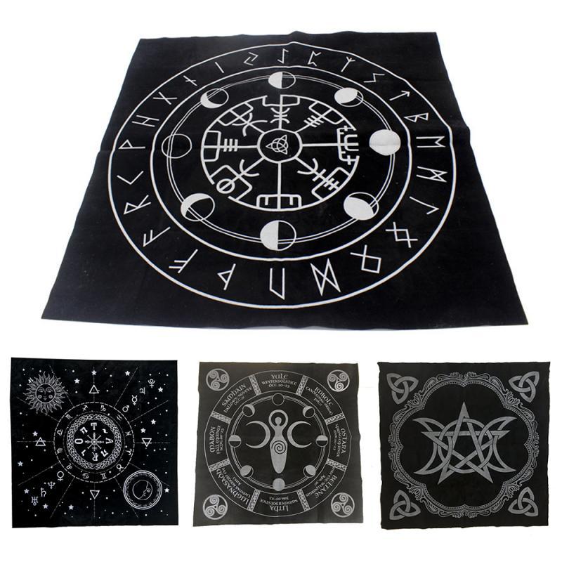 20x20cm Tarot de la carpeta de la tarjeta del Tarot de la fiesta mantel para juego de Mantel para juego