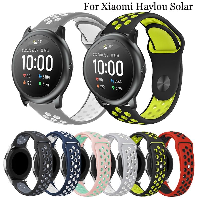 Correa de reloj de silicona de 22mm para Xiaomi Haylou Solar LS05, pulsera de reloj inteligente para Huami Amazfit Stratos 2 2S 3 GTR 47