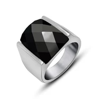 new trendy bohemian crystal inlaid ring mens ring fashion metal crystal inlaid ring accessories party jewelry