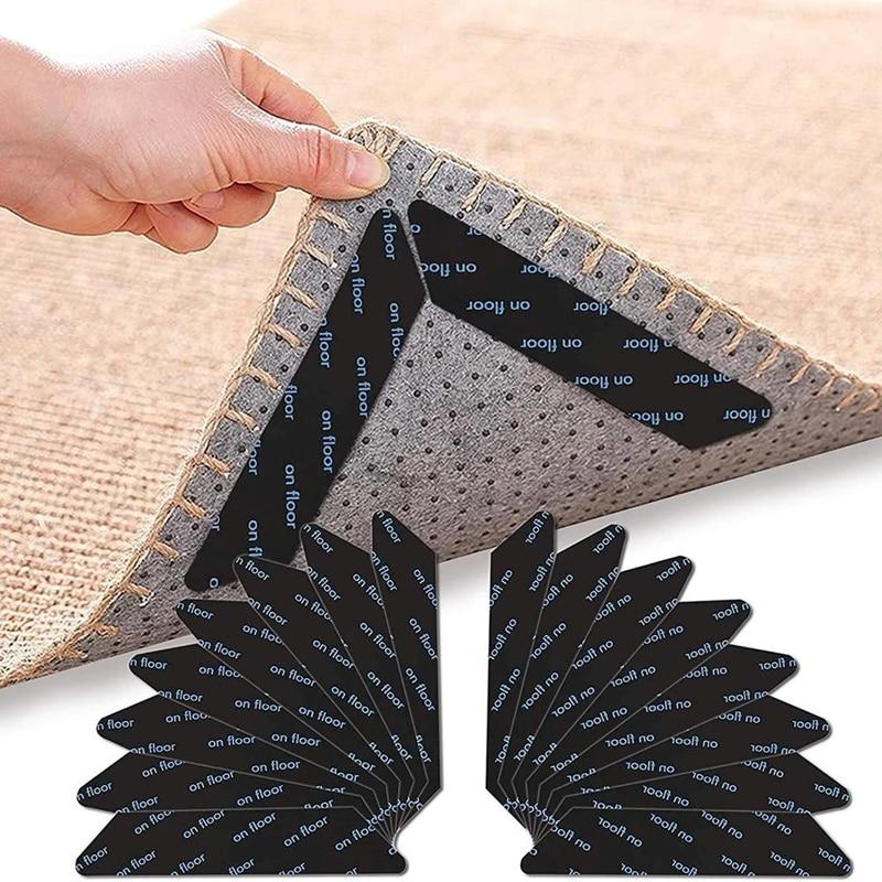 8pcs Carpet anti slip Anti Curling patch Reusable Washable Carpet Patch fixed sticker Floor Rug Mat Tape gripper Corners Pad
