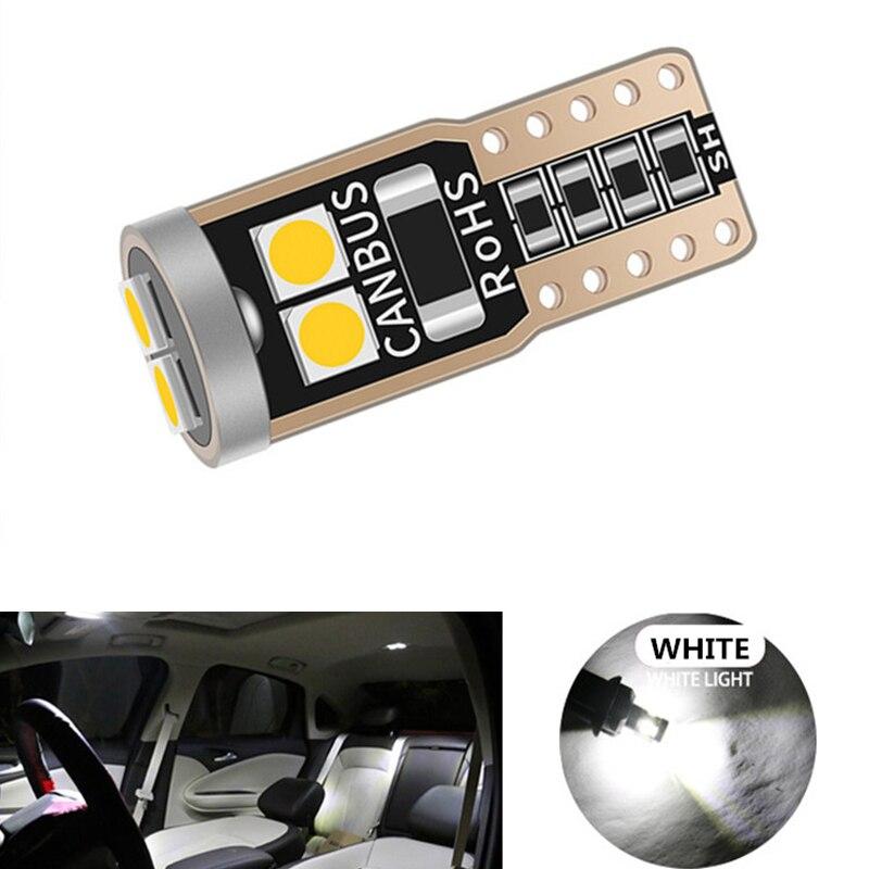 Bombilla LED de coche 10x Canbus T10 W5W para Opel Astra H G Corsa D C Insignia Vectra B Zafira Mokka 12V, lámpara Interior automática