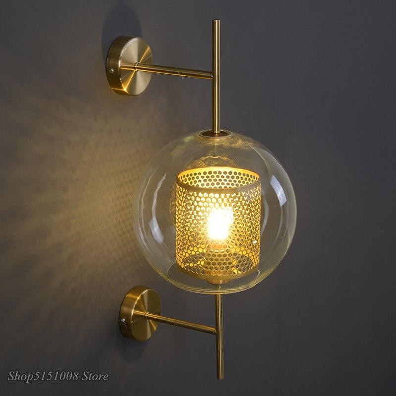 آخر الحديثة الجدار مصباح لوفت Led الزجاج الجدار الشمعدان غرفة الطعام ديكور الصناعية المطبخ لوفت الجدار تركيبات إضاءة الجدار لوميناريا