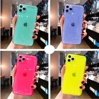 iphone case fluorescent tpu to customize apple 11 mobile phone case for iphone12promax transparent flash tpu soft case