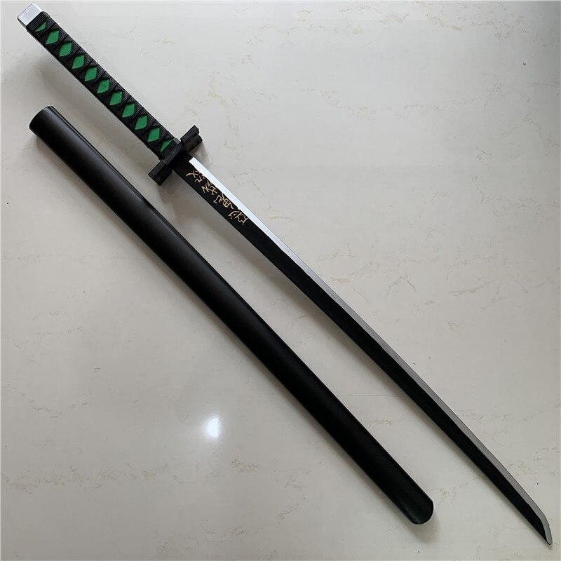 104cm Kimetsu no Yaiba arma demonio asesino Tanjirou Cosplay espada 1:1 Anime Ninja cuchillo PU