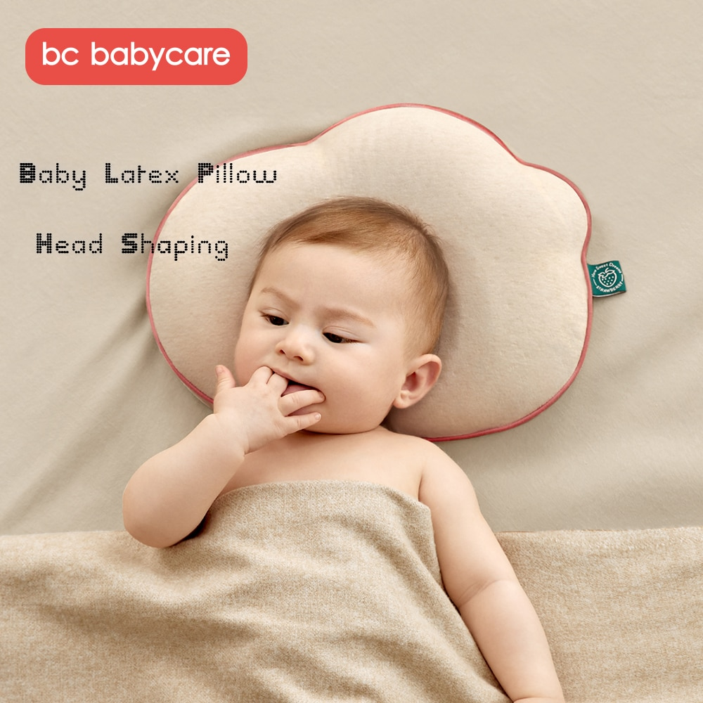 BC Babycare Baby Latex Pillow Infant Head Shaping Prevent Flat Head Breathable Toddler Positioning Pillow Newborn Bedding