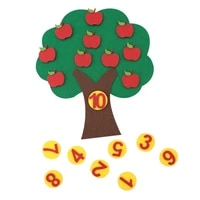 lets make montessori baby tree apple figures sets intellectual development early education toys diy craft for montessori game