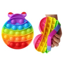 Colorful Animal Push Bubble Sensory Toys Multifunction Portable Cup Mat Silicone Anti-stress Vent To