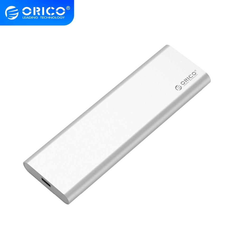 ORICO Aluminum Dual Bay mSATA Type-C SSD Enclosure USB3.1 GEN2 Support 10Gbps High-speed For Mac -Silver MSG-RC3