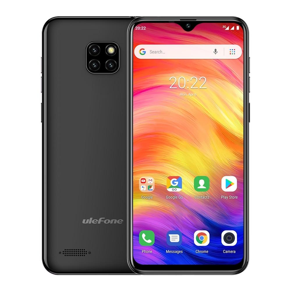 Чехол-накладка Ulefone Note 7 смартфон 6,1 дюймов 1 Гб Оперативная память 16 Гб Встроенная память MT6580A 4 ядра 3500 мАч Face ID Три задних камеры Android GO мобиль...