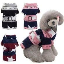Mascota perros invierno engrosamiento abrigo cálido estrellas chaqueta sudaderas con capucha para perros pequeños medianos cachorro Yorkshire traje suministros para mascotas