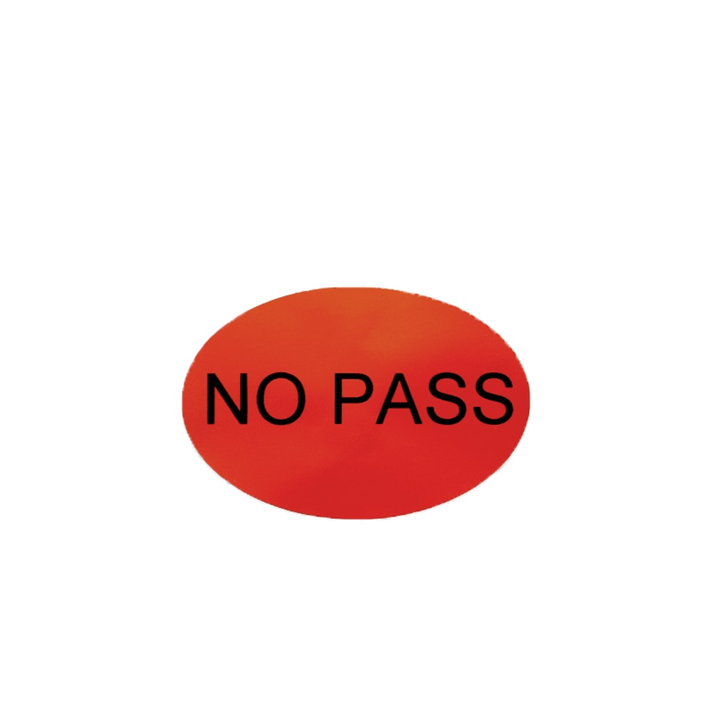 No Pass Printed Self-adhesive Produce Labels Customizable QC Stickers