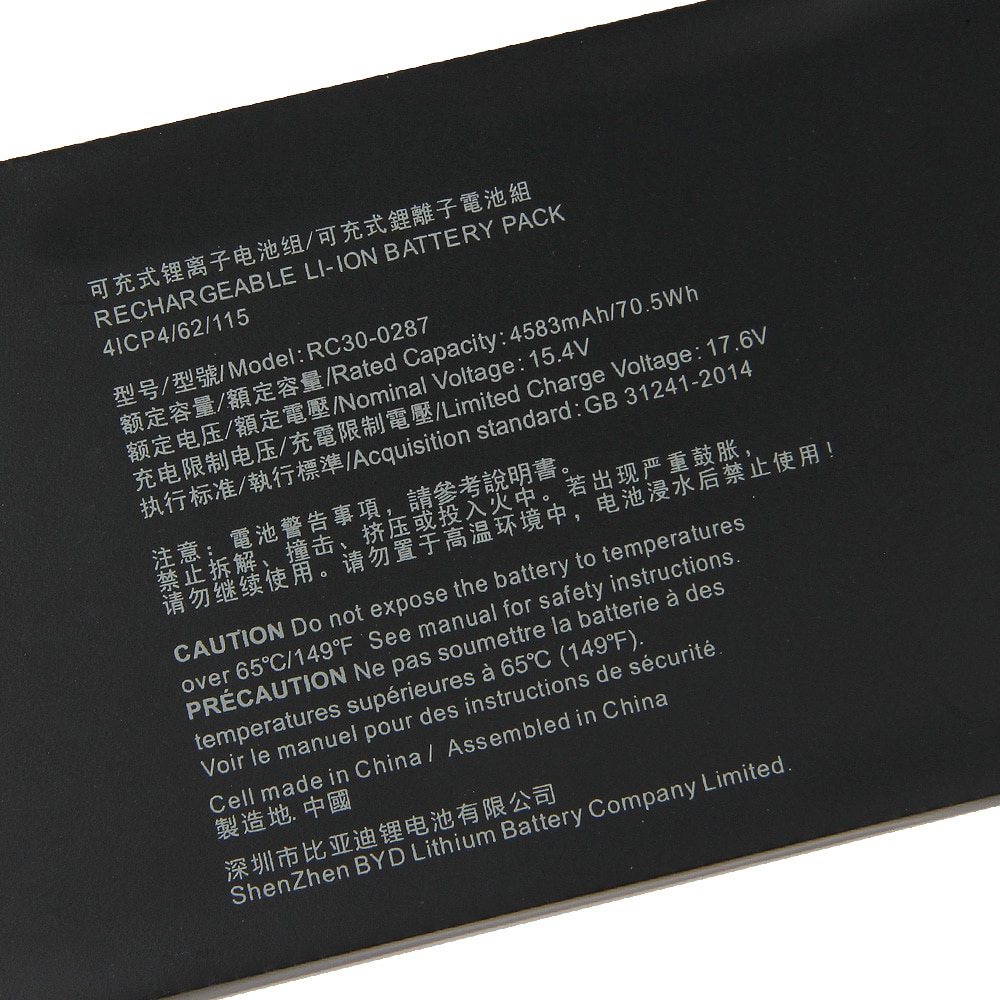 Original Replacement Battery RC30-0287 For Razer Blade Pro17 2019 RZ09-03297 RTX 2080 Max-Q Authentic Battery 4583mAh enlarge