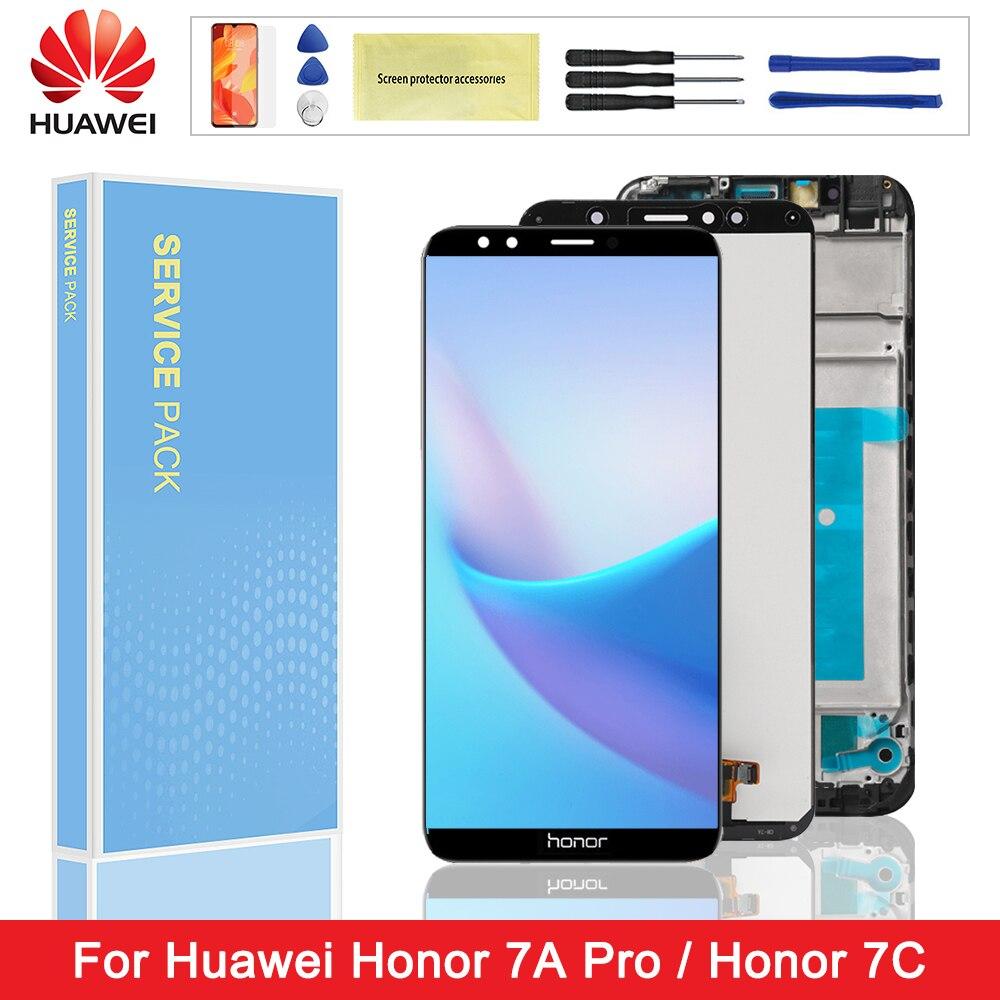 Pantalla Original para Huawei Honor 7A Pro AUM-L29 pantalla LCD MONTAJE DE digitalizador con pantalla táctil marco para Huawei Honor 7C AUM-L41
