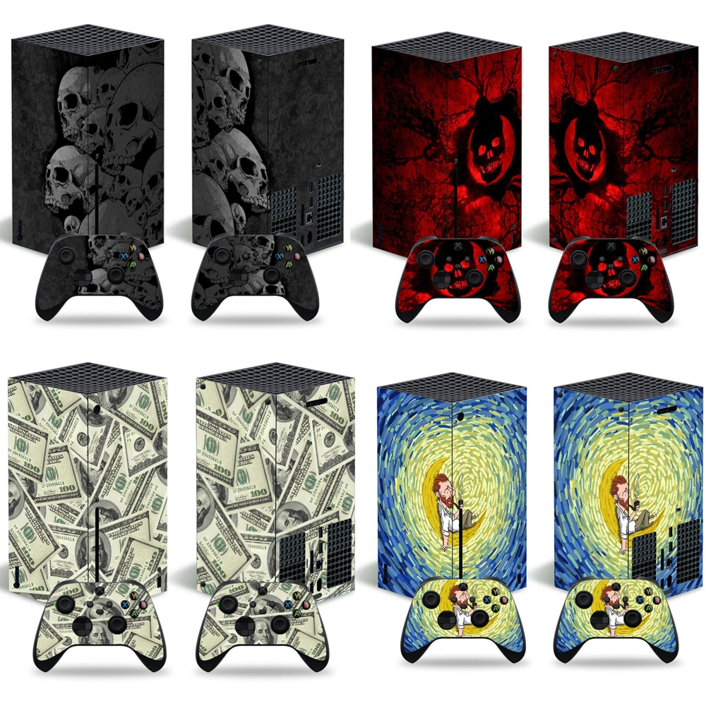 Newest Design Skin Sticker Decal Cover for Xbox Series X Console and 2 Controllers Xbox Series X Skin Sticker Vinyl