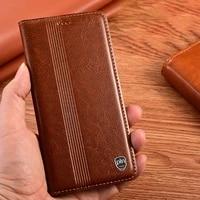 luxury genuine leather case for oppo realme 3 3i 5 5i 6 6i 7 7i x7 pro magnetic flip cover card slots