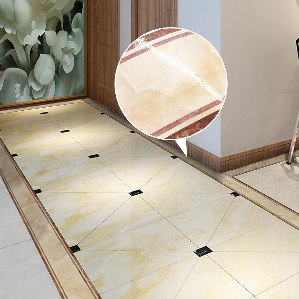 Pegatinas de mármol amarillo, pegatina de borde de suelo de PVC, autoadhesiva, pegatina de suelo de escaleras para pared, decoración de dormitorio y baño