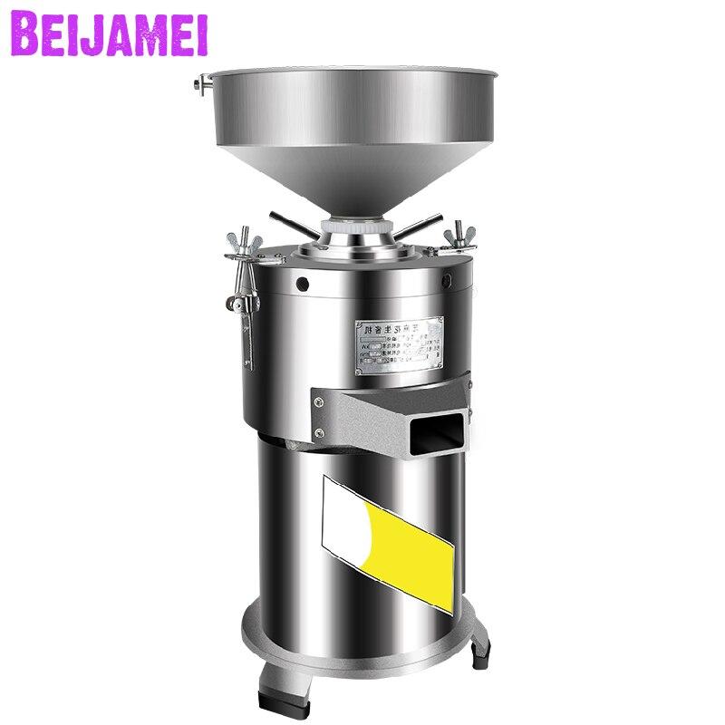 Proveedor de BEIJAMEI Máquina Eléctrica de mantequilla de maní de sésamo máquina de molienda de piedra máquina de mantequilla de maní comercial de acero inoxidable