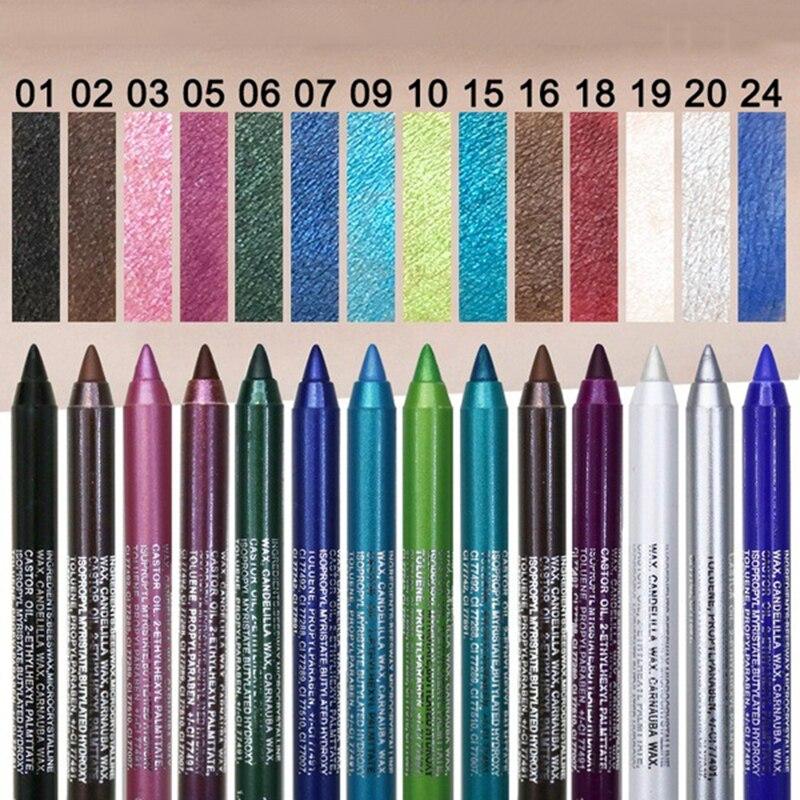 1 pçs não florescendo olho sombra caneta cor perolado longa duração sweatproof impermeável aveludado-macio portátil delineador tslm2