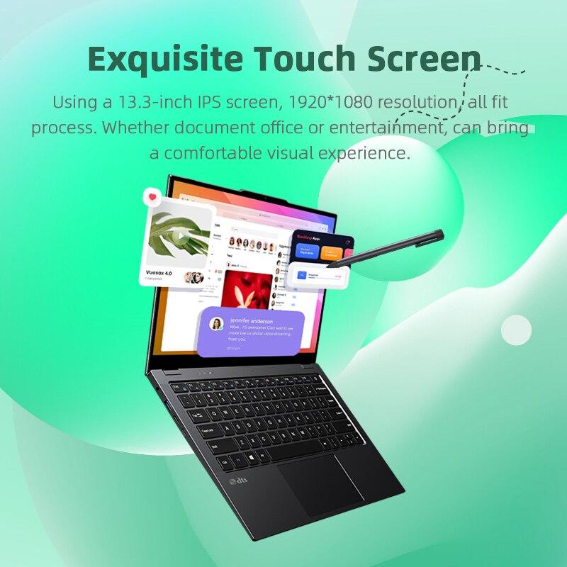CHUWI LarkBook 13.3 Inch Intel Celeron N4120 Quad Core 8GB RAM 256GB SSD Windows 10 Touch Screen Laptop 1KG Weight