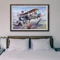 T123     peinture classique retro avec 57 operations de vol davion de guerre  affiche en soie personnalisee  decoration murale  cadeau de noel