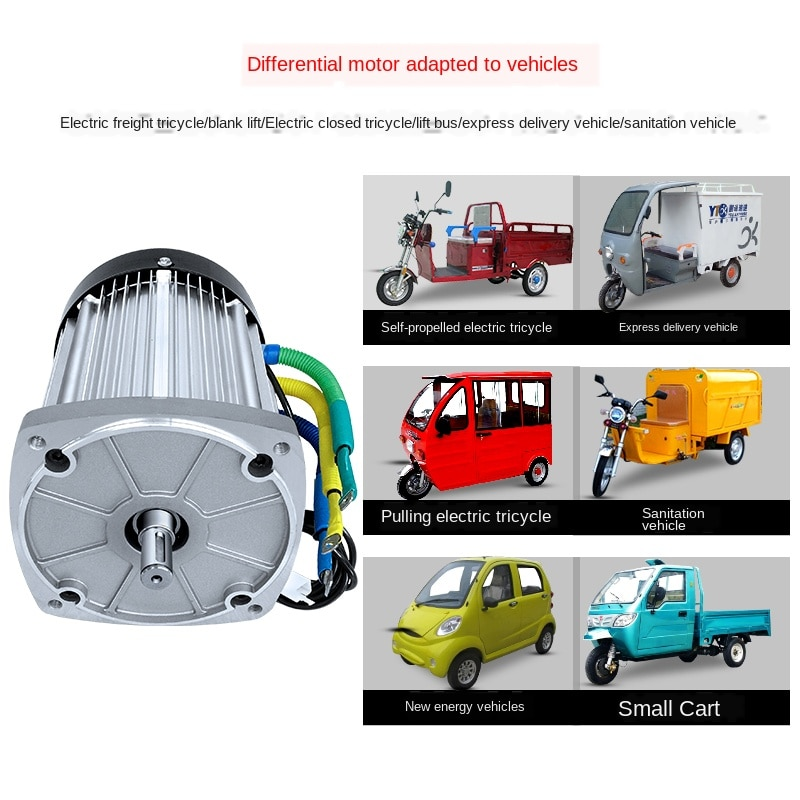 Tricycle High-power Brushless High-speed Battery Elderly Scooter Electric Quadricycle Electric Machine 60v72v2200w Electrical enlarge