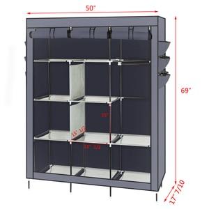 "69\"" High-leg Non-woven Fabric Assembled Cloth Wardrobe Gray  Shoe Rack Storage Organizer Cover J99Store"