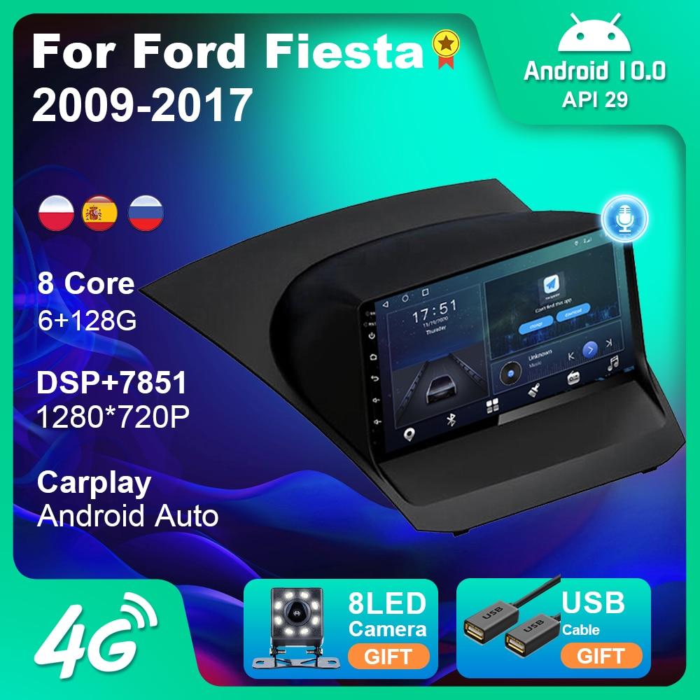 Автомагнитола для Ford Fiesta, мультимедийная стерео-система на Android 2009, с 9